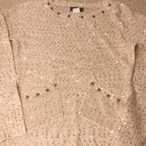 Beautiful cream sweater with gold detail